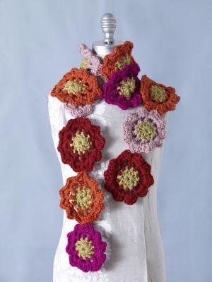Flower Motif Scarf Crochet Pattern Favecrafts