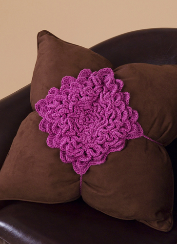 Crochet Flower Pillow