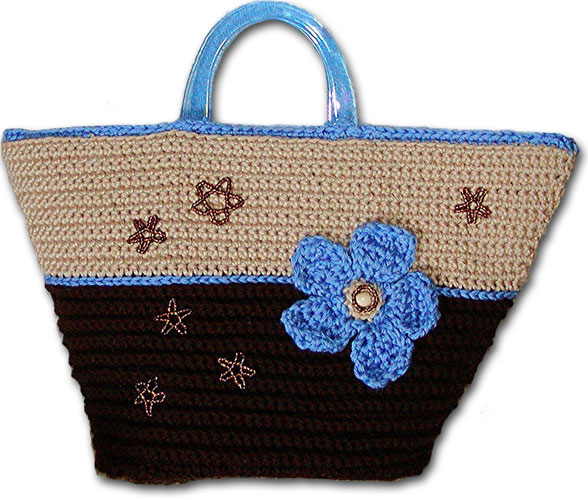 Crochet Flower Market Purse