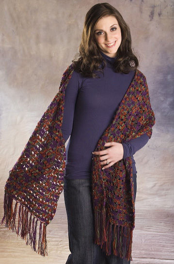 Long Lace Stole Crochet Pattern | FaveCrafts.com