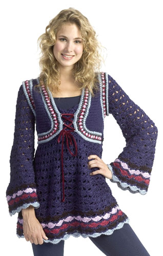 Renaissance Inspired Tunic Crochet Pattern From Caron Yarn