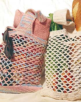 Lightweight Shopping Bag Crochet Pattern | FaveCrafts.com