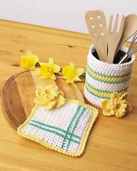 Crochet Spring Kitchen Set
