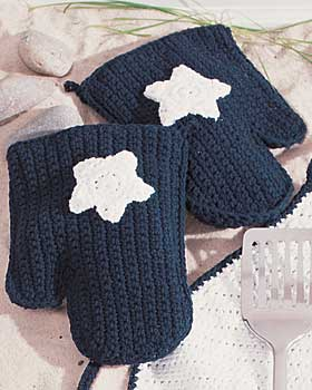 Crochet Star Kitchen Mitts