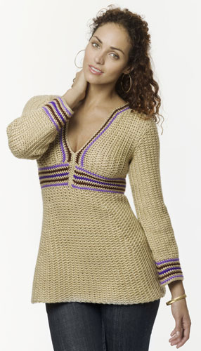 Crochet Stripe Tunic