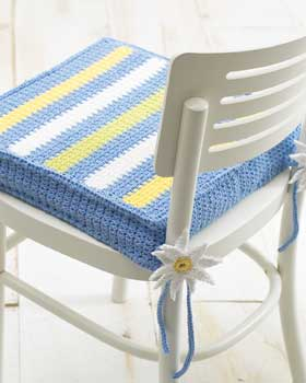 Striped Chair Pad Crochet Pattern Favecraftscom