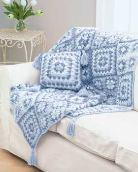 Granny Square Throw and Pillow