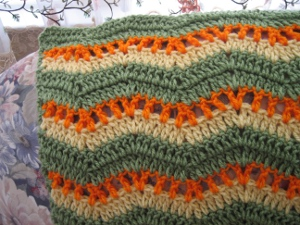 Fall Ripple Afghan