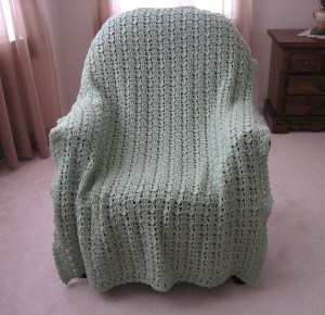 Grassy Moss Crocheted Afghan Pattern