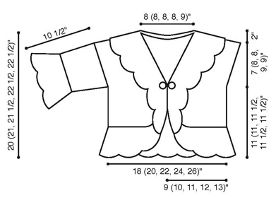 Lace Ruffle Cardigan Diagram
