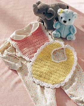 Lace Trim Baby Bib Crochet Pattern Favecraftscom