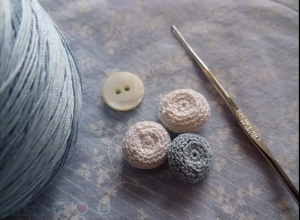 Lacy Crochet Button