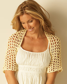 Light Crochet Summer Shrug