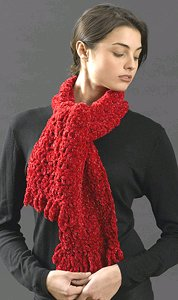 Loop Scarf with Fringe