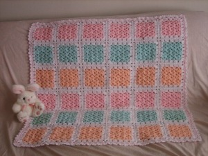 Pastel Shell Squares Afghan