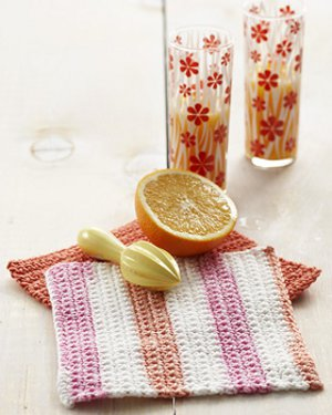 pink grapefruit dishcloth