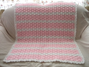 Pink and White Dreams Afghan
