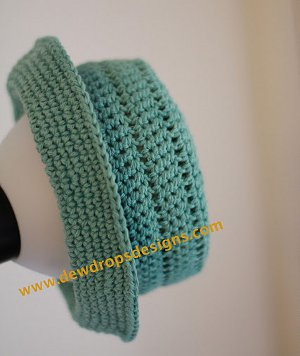 0a3aefecd1e Teal Crochet Hat with Brim