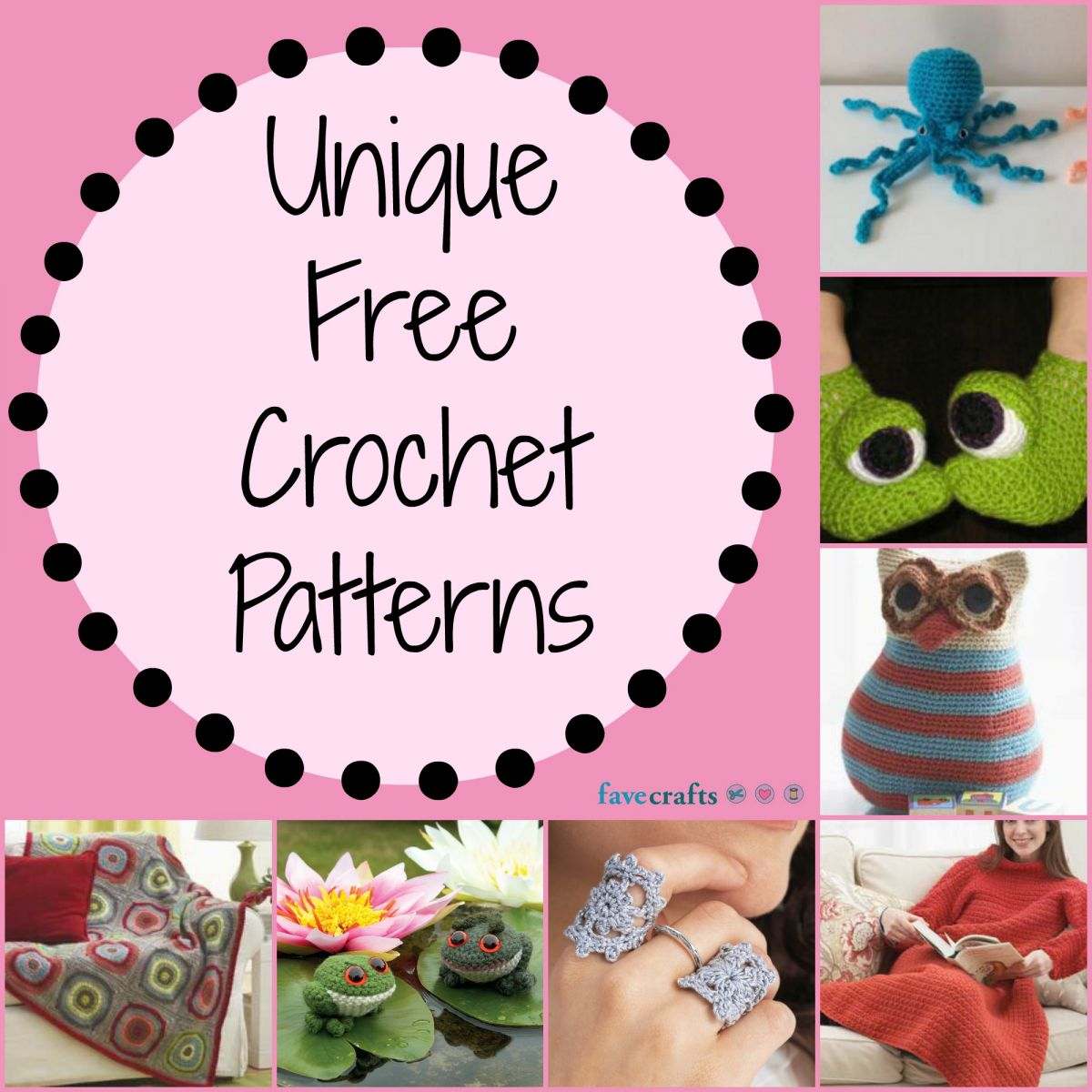 17 Unique Free Crochet Patterns | FaveCrafts.com