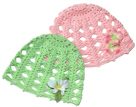 Vintage Rose Crochet Hats