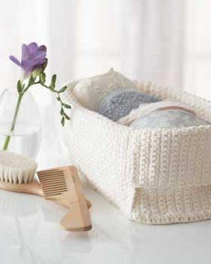 Crocheted Spa Basket