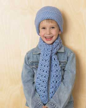 Little Blue Hat And Scarf Set Favecrafts Com