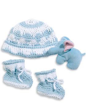 Crochet Hat and Booties Set for Baby