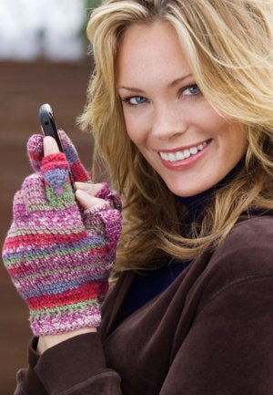 colorful texting gloves