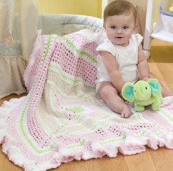 Ruffled Baby Blanket