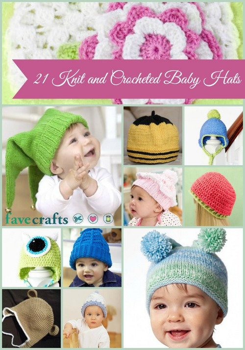 21 Knit and Crochet Baby Hats