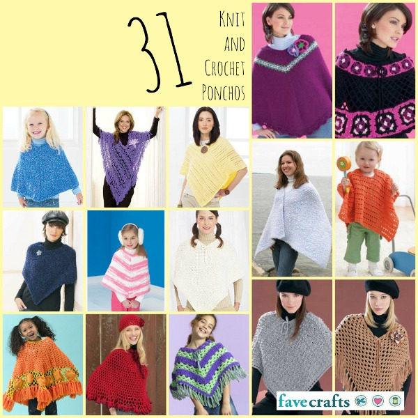 3b96860f3a36 31 Knit and Crochet Ponchos