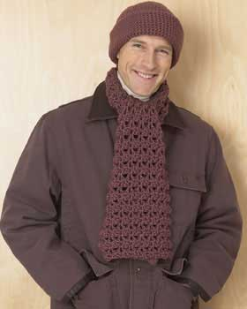 hat and scarf set for men
