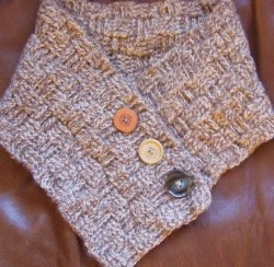 A Basket Weave Crochet Neck Warmer