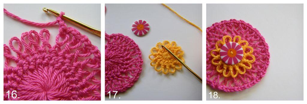 Hairpin Rosette Crochet Pattern Favecrafts