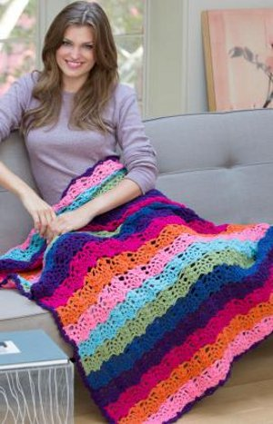 Topical Explosion Crocheted Afghan