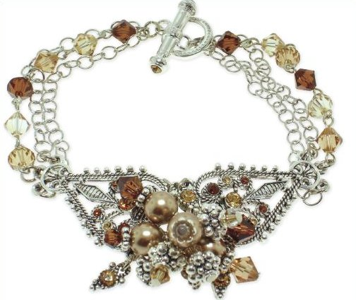 Learning How To Make Cool Bracelets Is Easy With This Lovely Project From  Absolute Crystal Components. Use Beautiful Swarovski Pearl Beads And  Crystals To ...