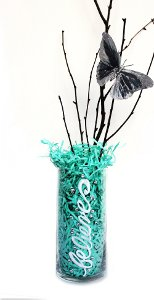 Crystal Embellished Believe Vase