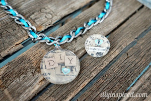 Mod Podge Necklace and Ring