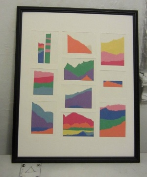 Construction Paper Mountain Art