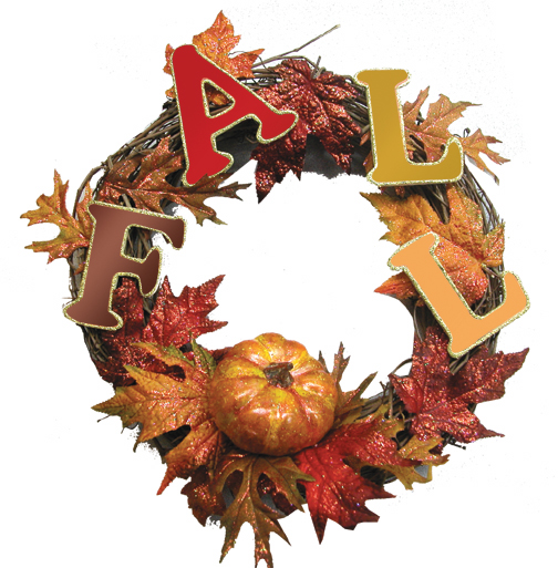 Fall Letter and Leaf Wreath