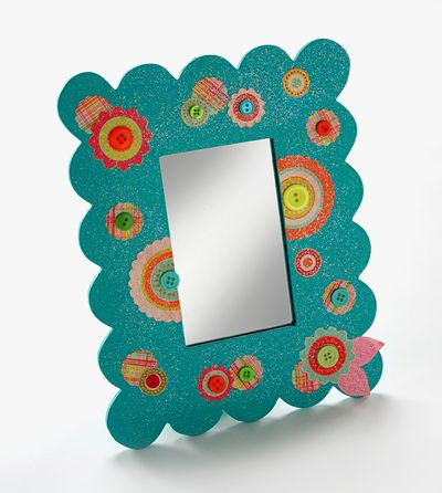 Button Mirror | FaveCrafts.com