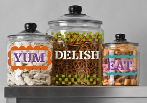 Fun n' Colorful Glass Canisters