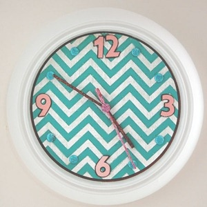 Glam Chevron Clock