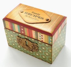 Recipe box redo favecrafts start small when learning a new technique decoupage is a great way to revitalize an old piece and a small project is quick and easy recipe box redo thecheapjerseys Image collections