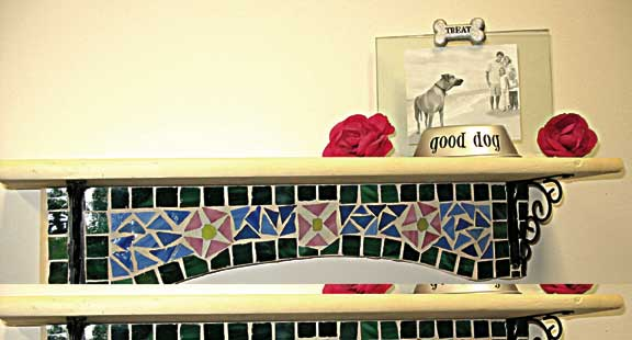 Floral Mosaic Shelf