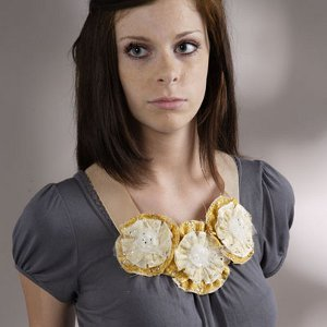 Scrappy Flower Statement Necklace