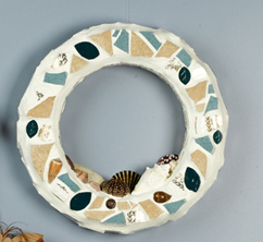 Mosaic Seashell Wreath
