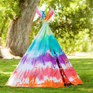 Tropical Theme Tee Pee Tie Dye Techniques Patterns