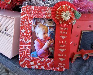 fabric scrap photo frame
