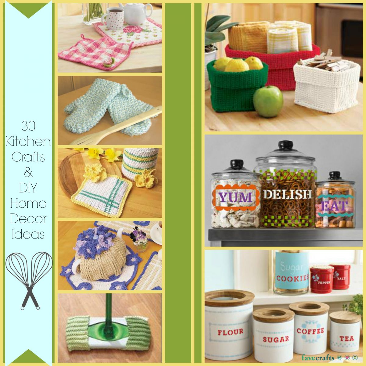 30 kitchen crafts and diy home decor ideas for Decoration items made at home